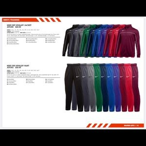 Men's Nike basketball track suit